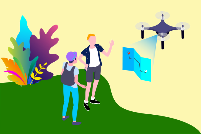 Mapping Drone Illustration
