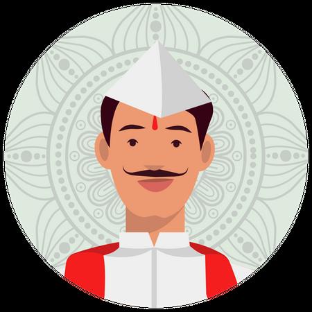 Marathi man Illustration