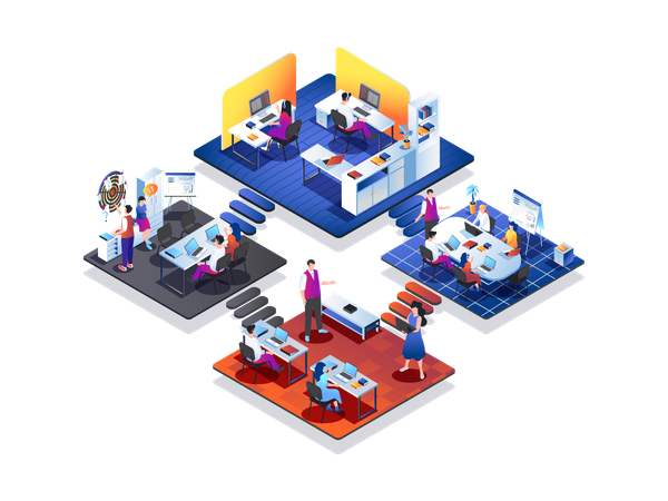 Marketing agency Illustration
