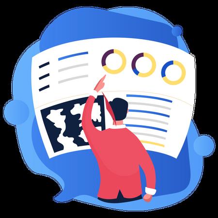 Marketing data analysis Illustration