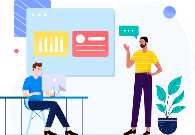 Marketing Data Research Illustration