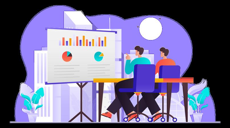 Marketing Discussion Illustration