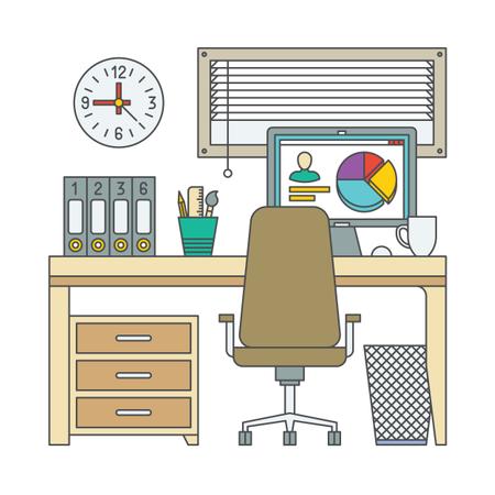 Marketing Guy Desk Illustration