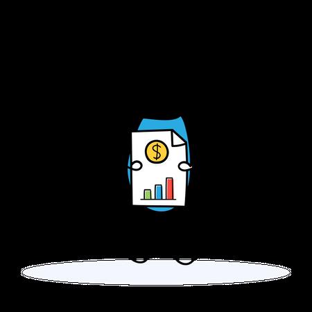 Marketing Head with Analytics Illustration