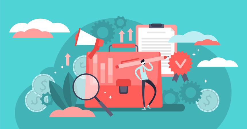 Marketing management Illustration
