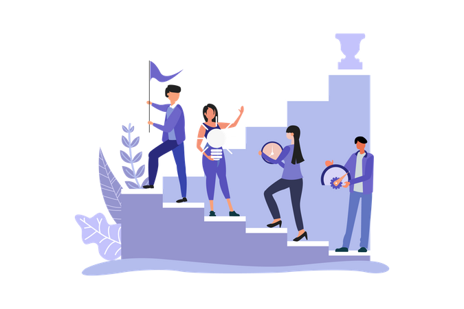 Marketing Management Strategy Illustration