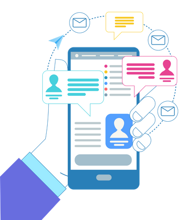 Marketing Messages or Notification Illustration