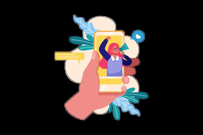 Marketing of referral program Illustration