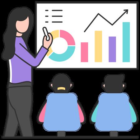 Marketing presentation Illustration