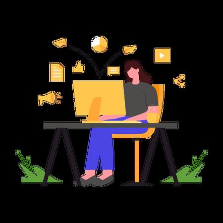 Marketing Process Illustration