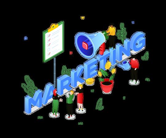 Marketing strategy Illustration