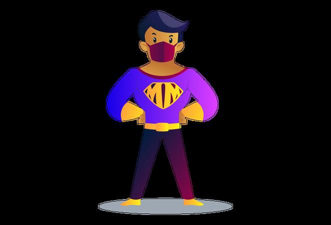 Mask man Illustration