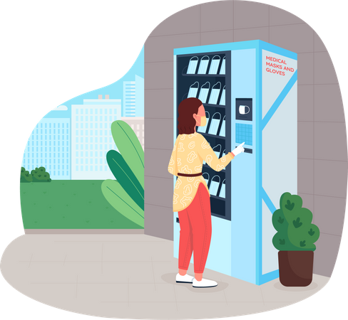 Mask vending machine Illustration