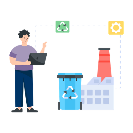 Mechanical Recycling Illustration