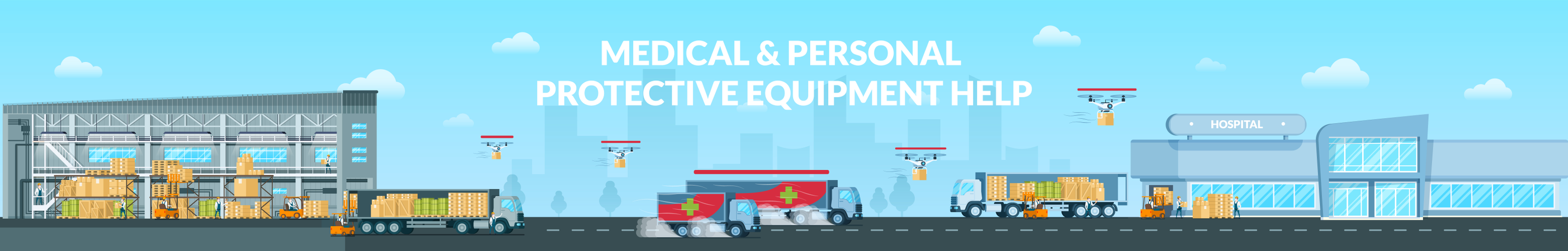 Medical and Personal Protective Equipment Help Illustration