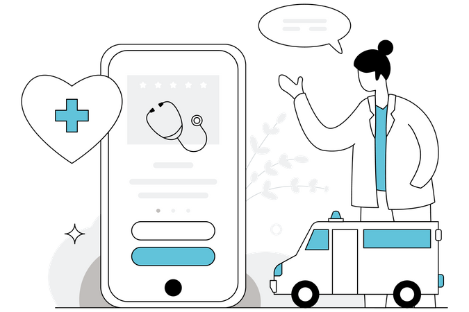 Medical App Illustration