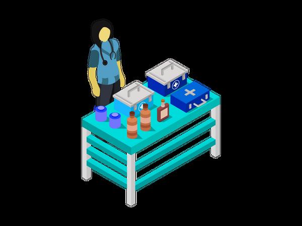 Medical Camp Illustration