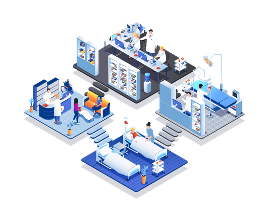 Medical clinic Illustration