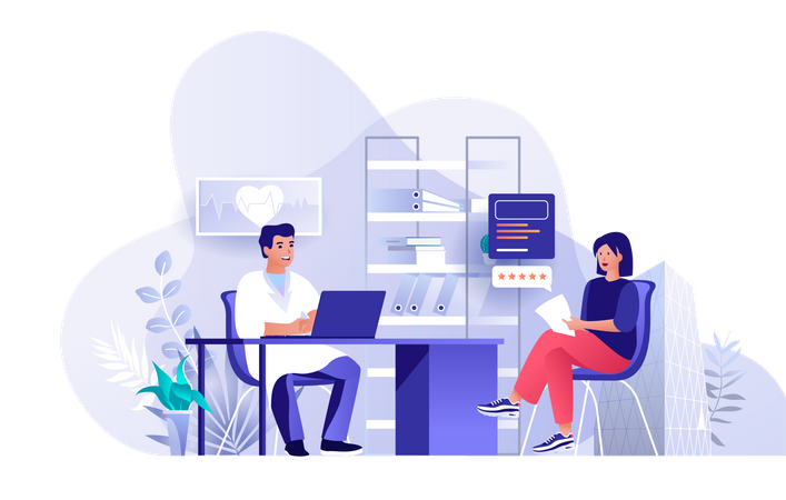 Medical clinic services Illustration
