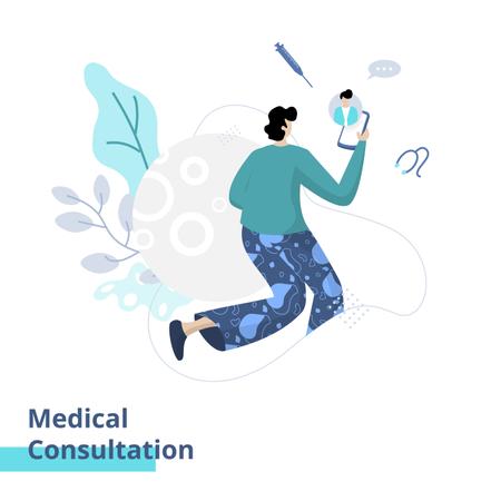 Medical Consultation Illustration