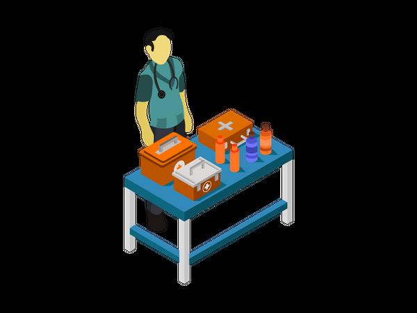 Medical Desk Illustration