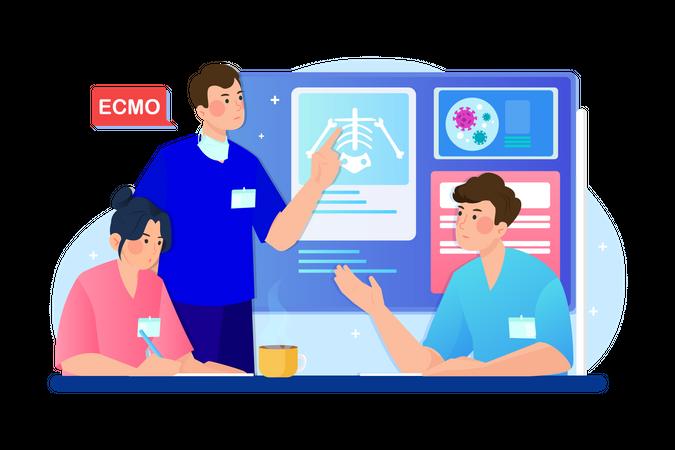 Medical Discussion Illustration