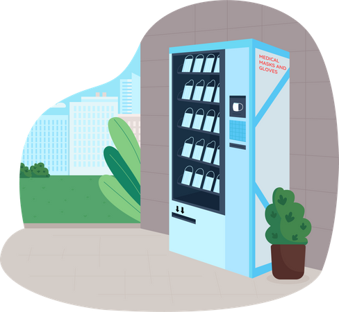 Medical equipment vending machine Illustration
