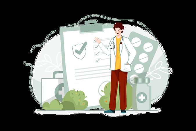 Medical Insurance Illustration
