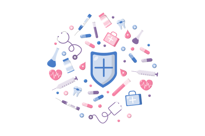 Medical pattern Illustration