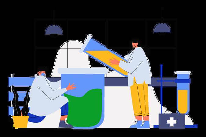 Medical Research Illustration