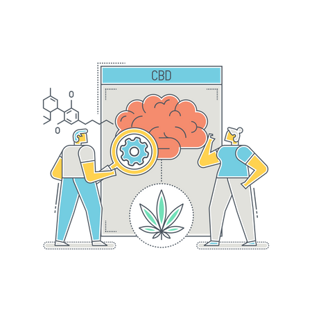 Medical researchers finding use of CBD oil in illness Illustration