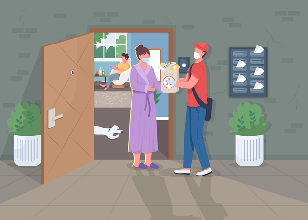 Medical supply delivery Illustration