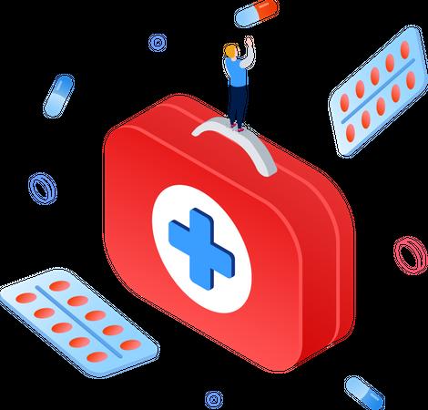 Medicine and healthcare Illustration