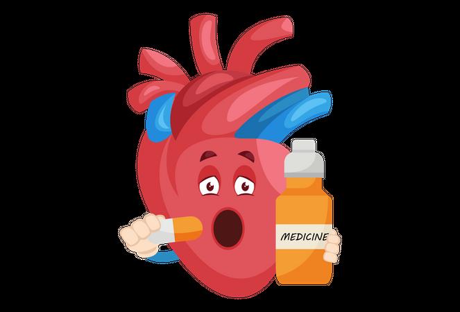 Medicine for heart diseases Illustration