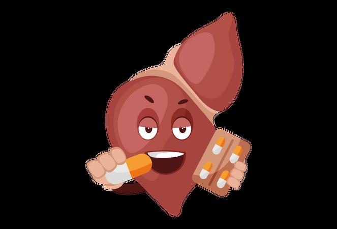 Medicine for liver Illustration