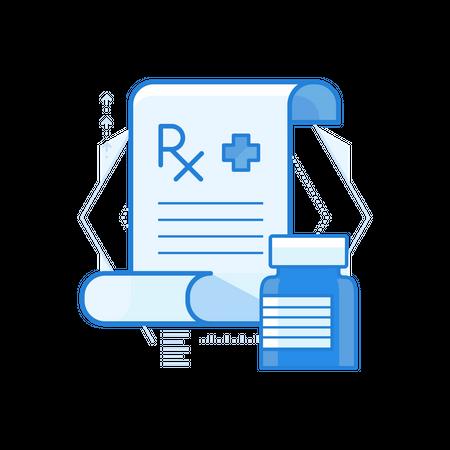 Medicine Prescription Illustration