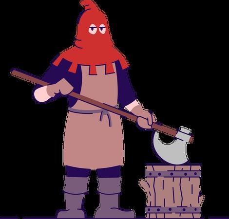 Medieval executioner Illustration