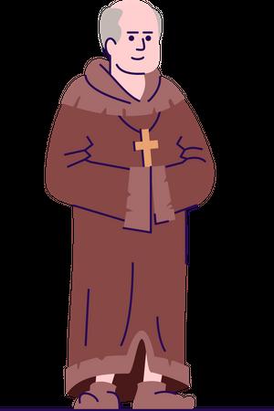 Medieval priest Illustration