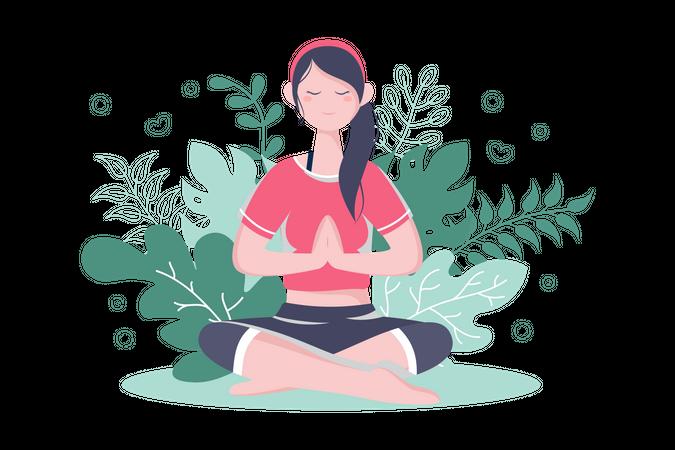 Meditation Practice Illustration