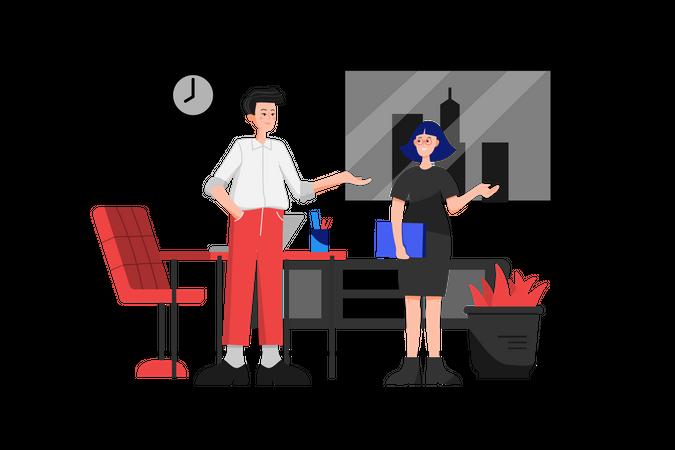 Meeting Invitation Illustration
