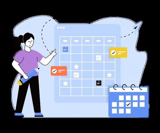 Meeting schedule Illustration