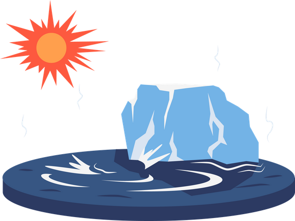 Melting glacier Illustration