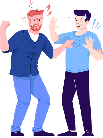 Men fighting with each other Illustration