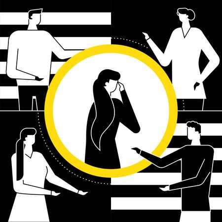 Mental harassment Illustration