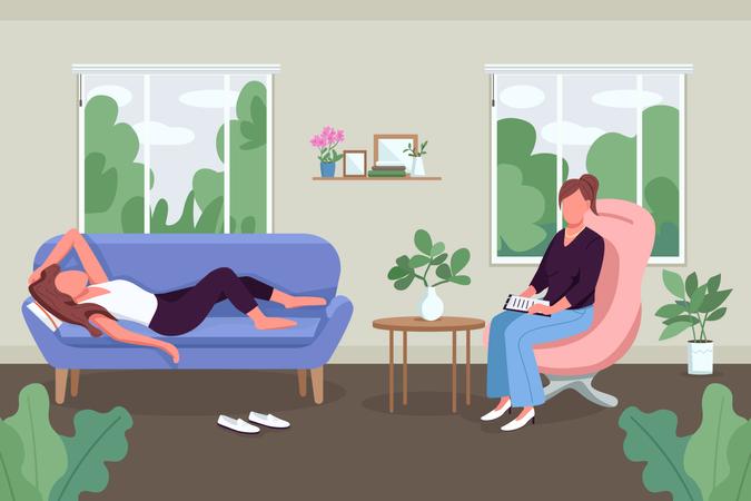 Mental health care Illustration