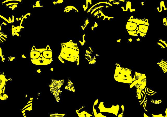 Meow pattern design Illustration