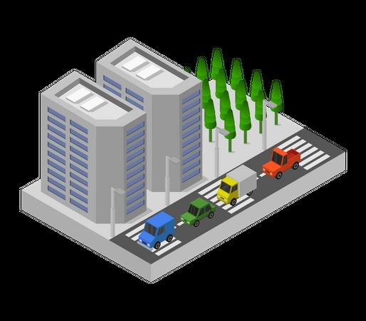 Mercantile Building Illustration