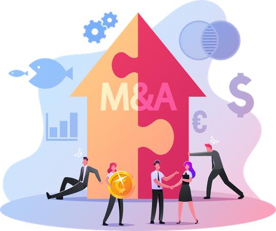 Merger and Acquisition Illustration