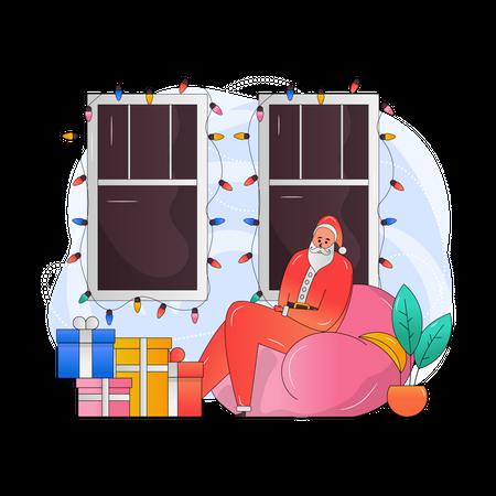 Merry Christmas santa Illustration