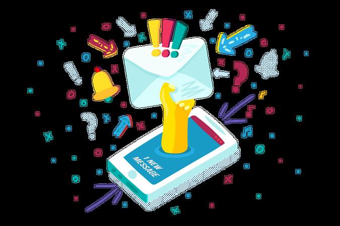 Message notification Illustration